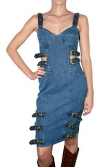 House Of Holland Denim Buckle Dress