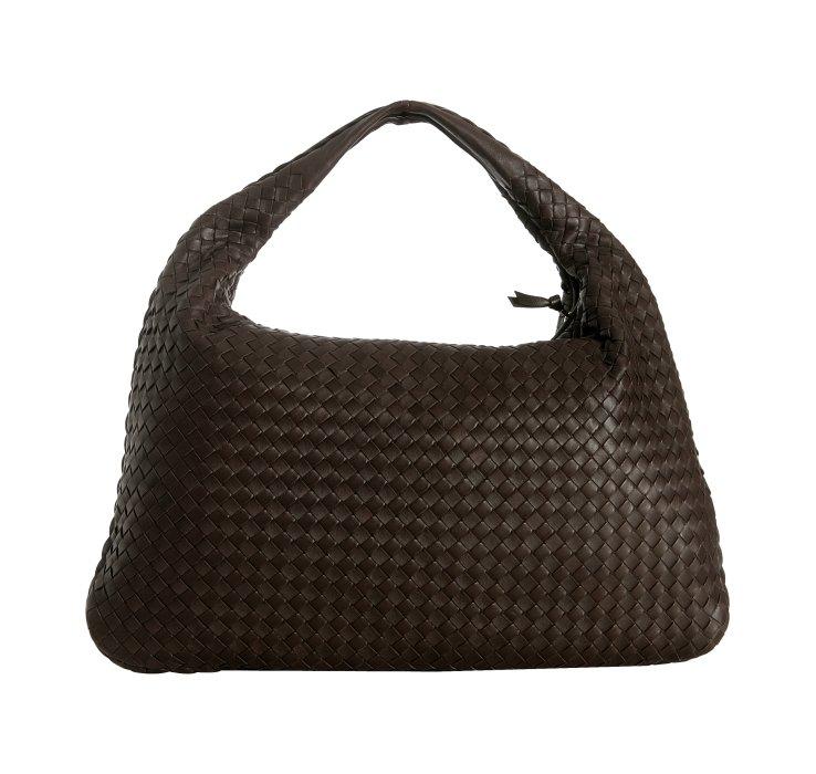 Lyst - Bottega Veneta Dark Brown Woven Leather Veneta . 4e4ae031c1bd8