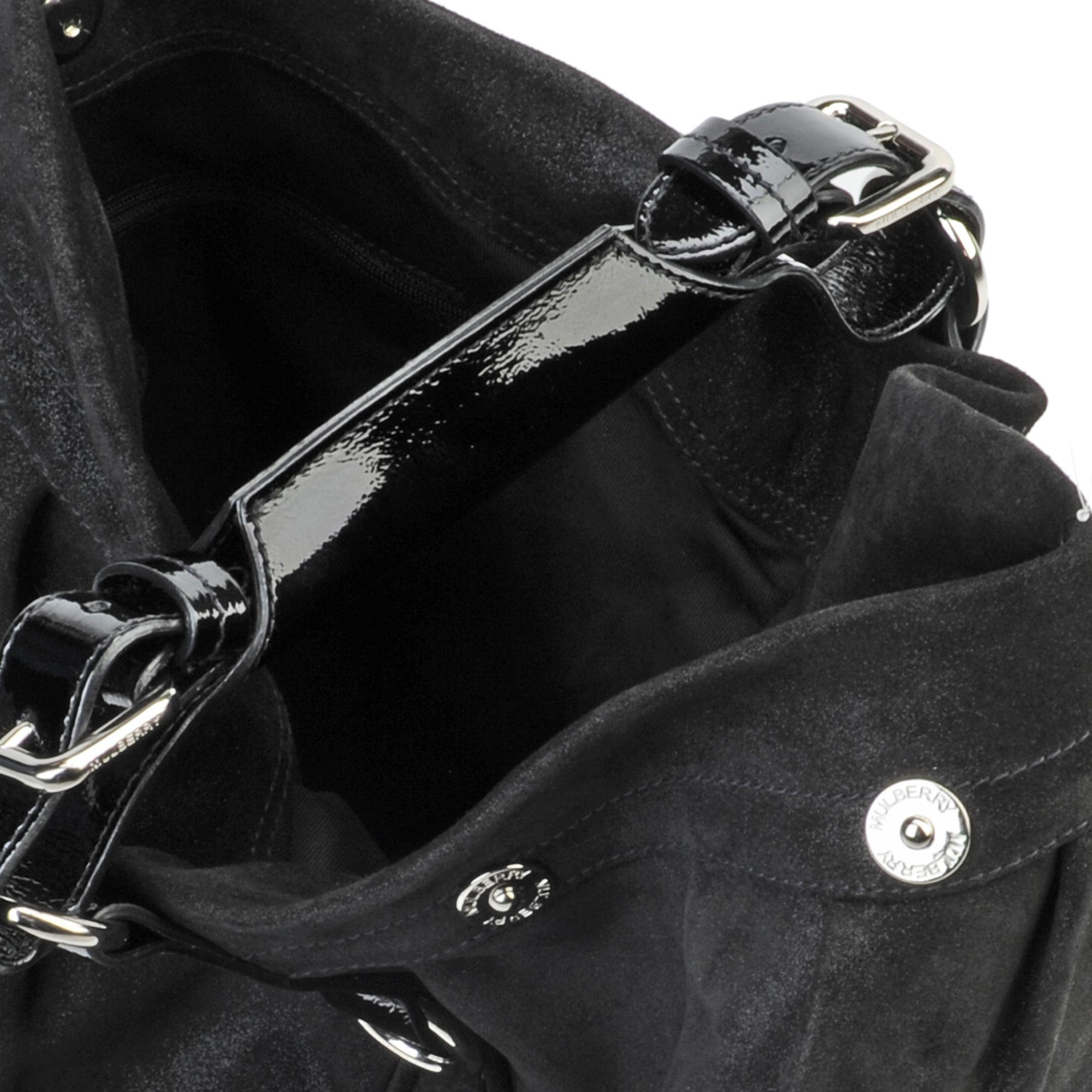9e76de1dcf ... canada mulberry mitzy hobo sparkle bag in black lyst 65929 1d9a7 ...