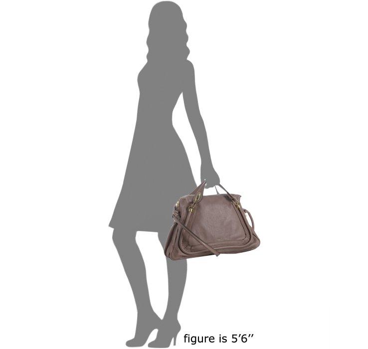 chloe pebbled leather large paraty satchel