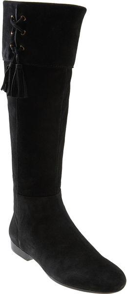 enzo angiolini zambiah flat boot in black black