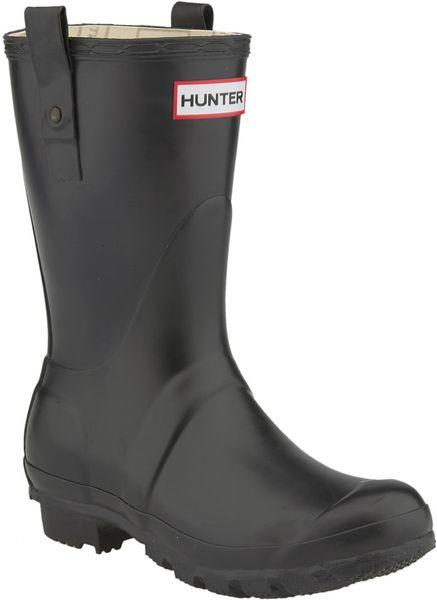 Hunter Original Short Rain Boot women In Black Lyst