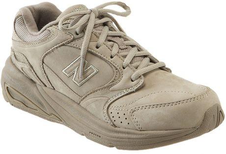 new balance 927 walking shoe in brown lyst