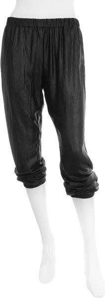 Graham & Spencer Liquid Shimmer Pull-on Pant in Black