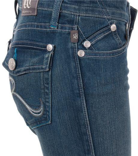 rock republic boot cut jeans in blue denim lyst. Black Bedroom Furniture Sets. Home Design Ideas