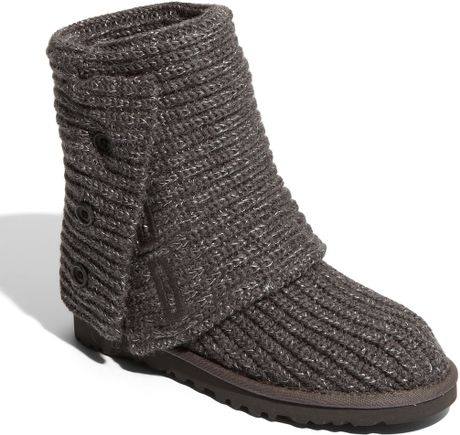 Ugg Classic Cardy - Grey Crochet Boot in Gray (grey) Lyst