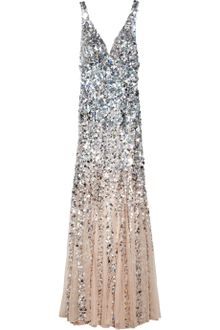 Rachel Gilbert Giselle Dégradé Sequined Gown in Silver (blush) - Lyst