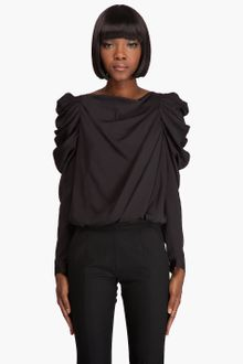 Viktor & Rolf Draped Sleeve Blouse - Lyst