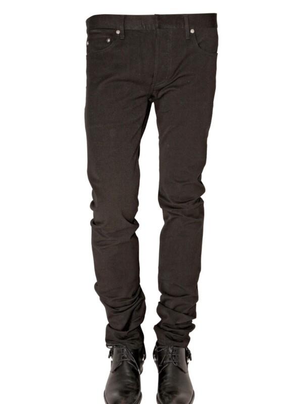 dior homme 17 5 super slender jeans in black for men lyst. Black Bedroom Furniture Sets. Home Design Ideas