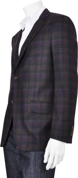 Etro Windowpane Sport Coat In Purple For Men Grey Lyst