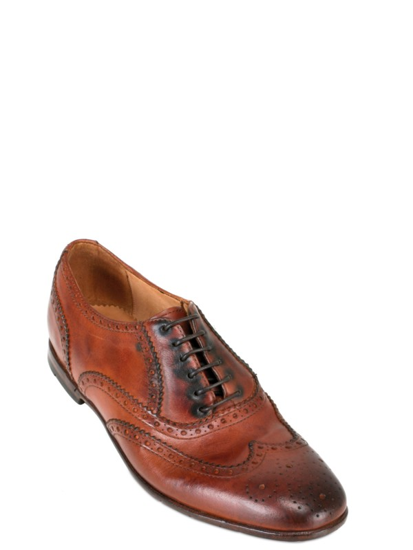Lyst Preventi Brogue Lace Up Shoes In Brown For Men
