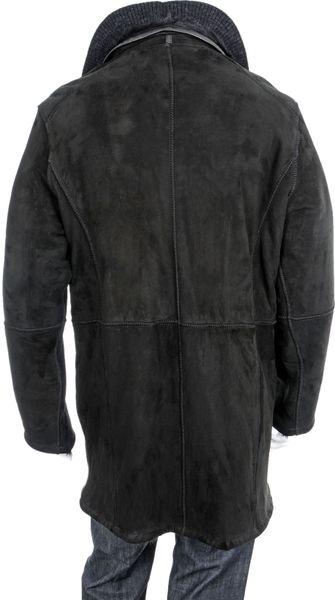Robert Comstock Cabretta Shearling Jacket In Black For Men