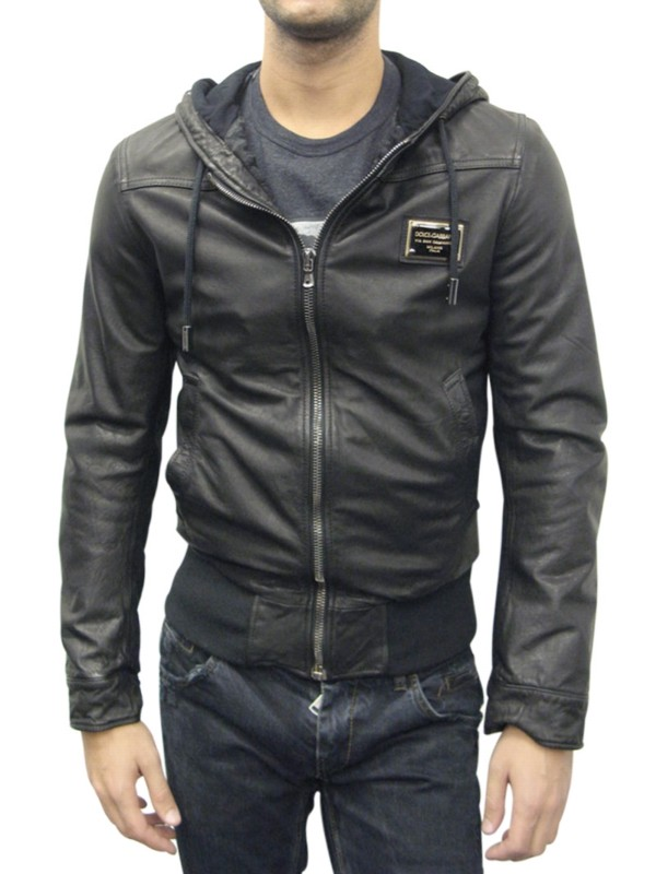 hooded leather bomber jacket - Black Dolce & Gabbana Free Shipping Deals sur7FR3