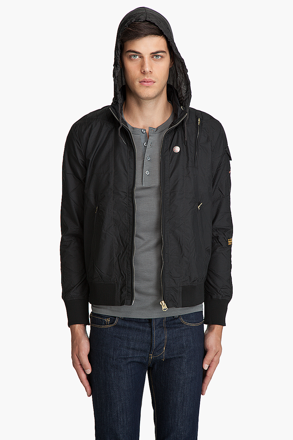 lyst g star raw new macc bomber jacket in black for men. Black Bedroom Furniture Sets. Home Design Ideas