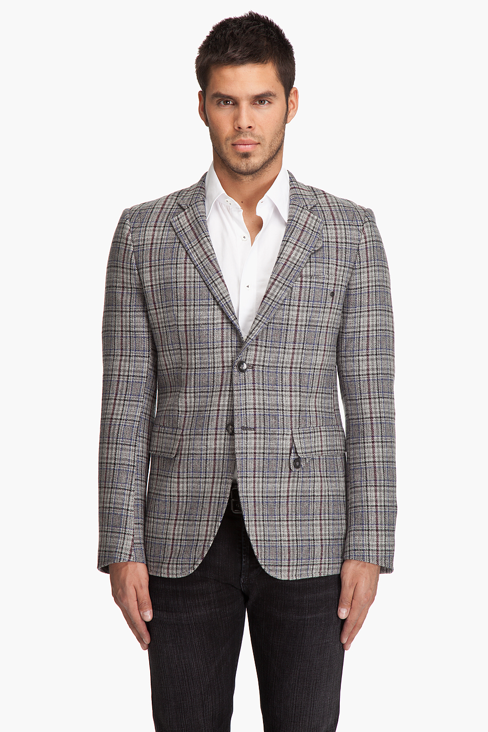 G Star Raw Correct Line Sports Blazer In Gray For Men Lyst