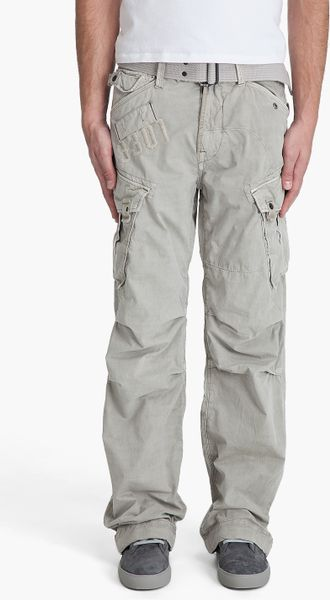 g star raw laundry rovic loose pants in beige for men. Black Bedroom Furniture Sets. Home Design Ideas
