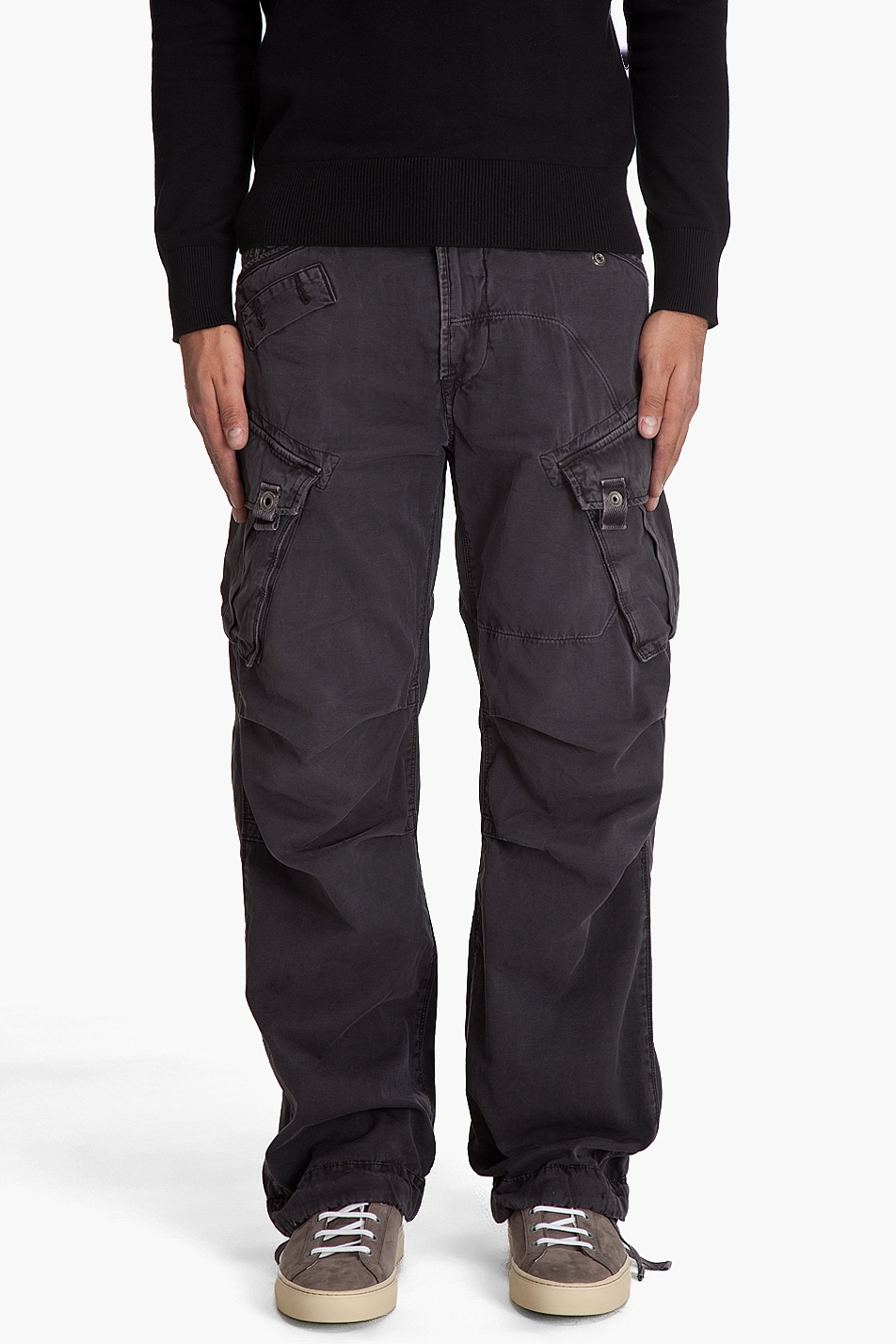 Lyst G Star Raw Rovic Loose Cargo Pants In Black For Men
