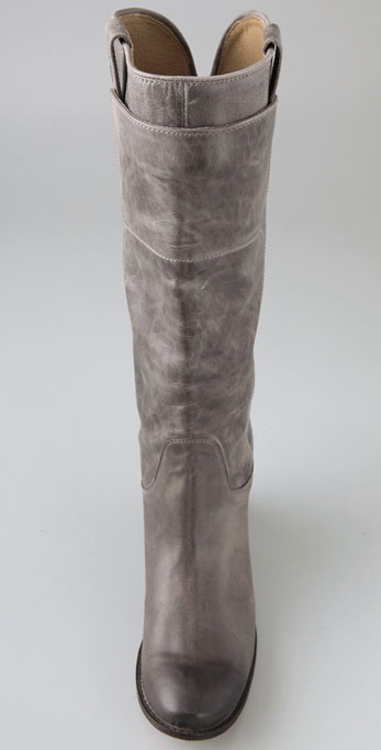 Frye Paige Tall Riding Boots in Gray | Lyst