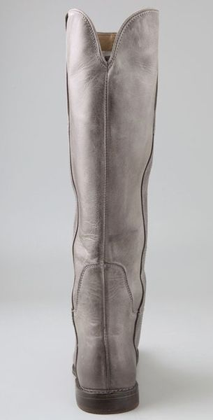 Frye Paige Tall Riding Boots in Gray (grey) | Lyst
