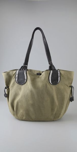 Khirma Eliazov Julianne Convertible Tote in Green (army)