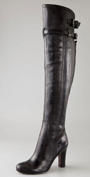 Sam Edelman Sutton Over The Knee Boots In Black Lyst