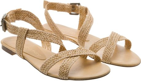 Stella Mccartney Braided Sandals in Brown (biscuit) | Lyst