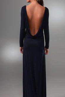 Navy Blue Maxi Dress on Penumbra Cowl Back Long Dress In Black   Lyst