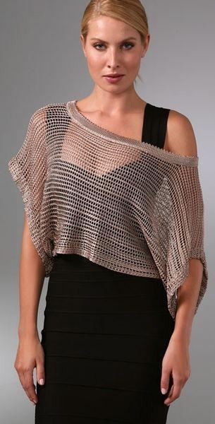 Foley Corinna Crochet Top In Gold Lyst