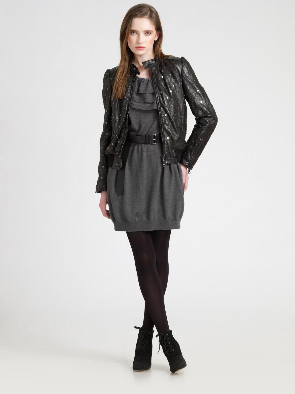 Black leather jacket cheap