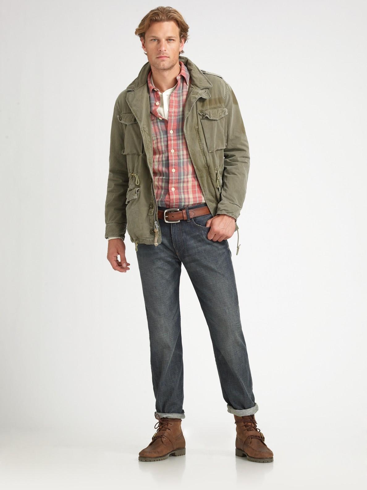 Lyst Polo Ralph Lauren Military Combat Jacket In Green