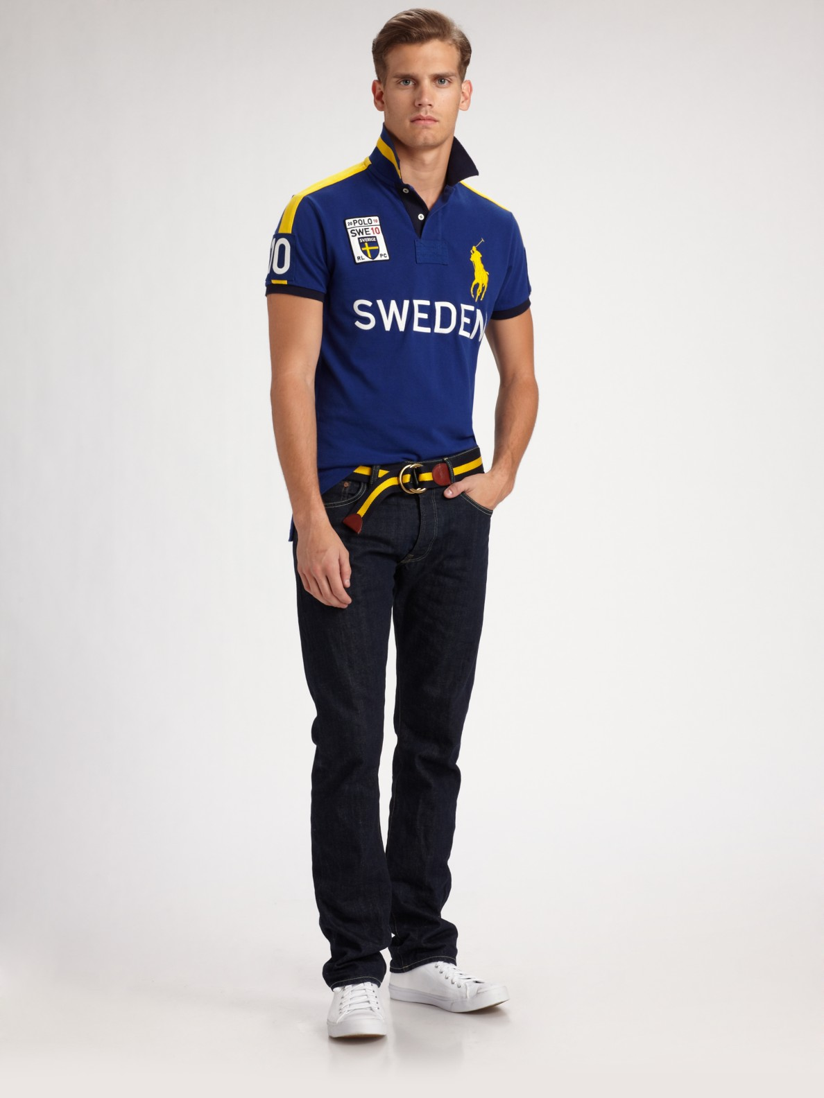 11648d9d Polo Ralph Lauren Slim-fit Polo/sweden in Blue for Men - Lyst