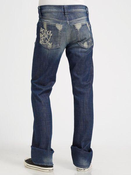 rock republic henlee bootcut jeans in blue for men lyst. Black Bedroom Furniture Sets. Home Design Ideas