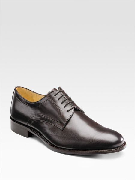 saks fifth avenue derby lace ups in brown for lyst