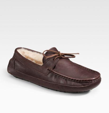 brown ugg moccasins