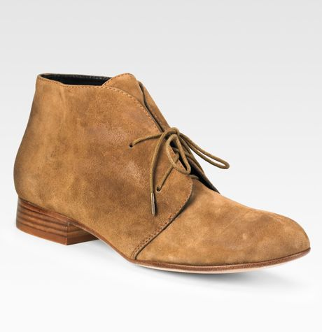 dolce vita lace up chukka suede ankle boots in