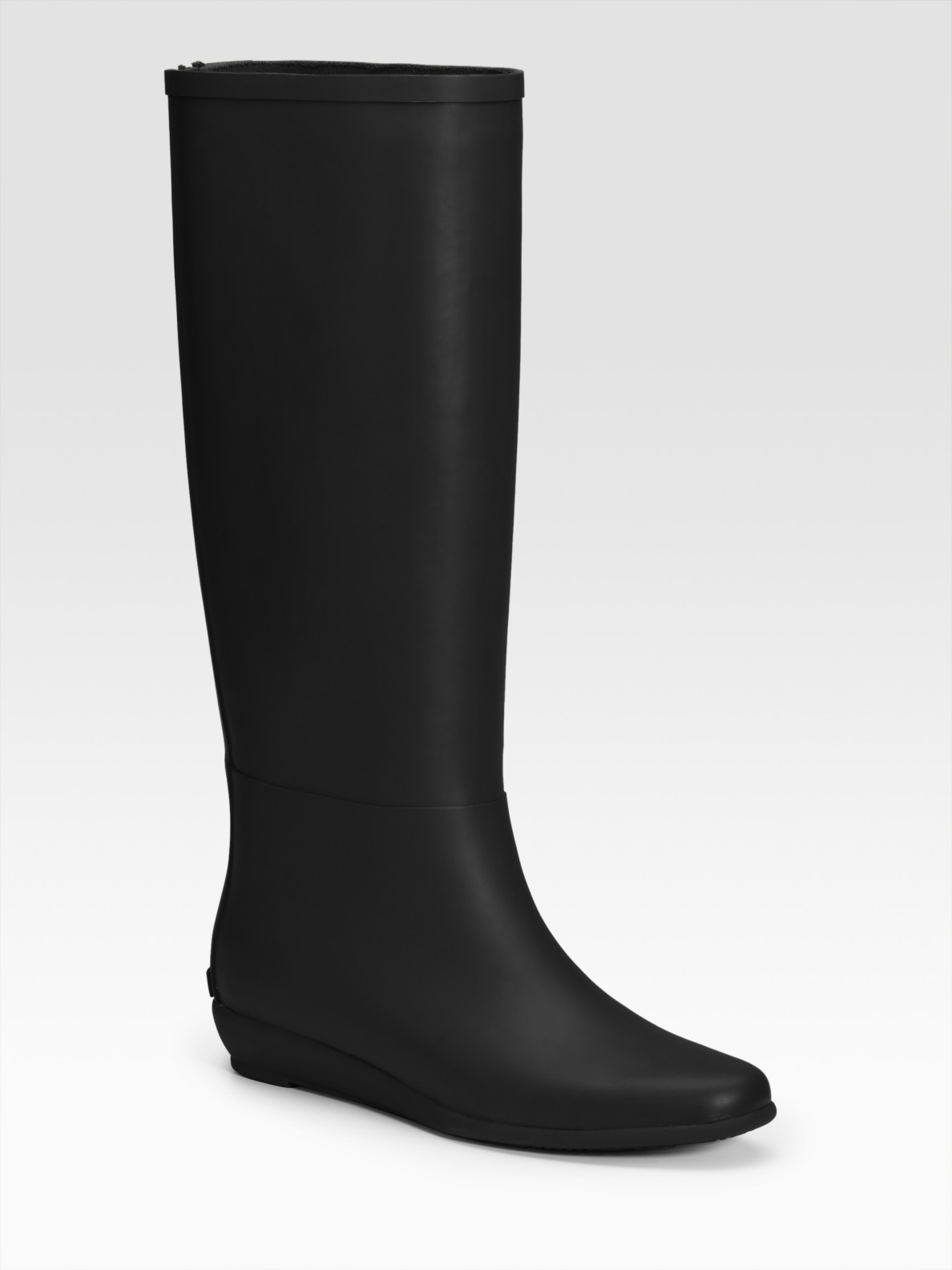 loeffler randall rubber wedge boots in black lyst