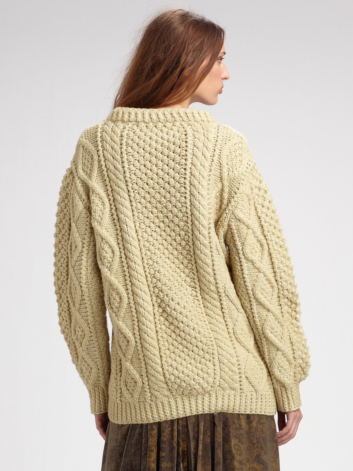 Lyst Marc Jacobs Hand Knit Fisherman Sweater In Natural
