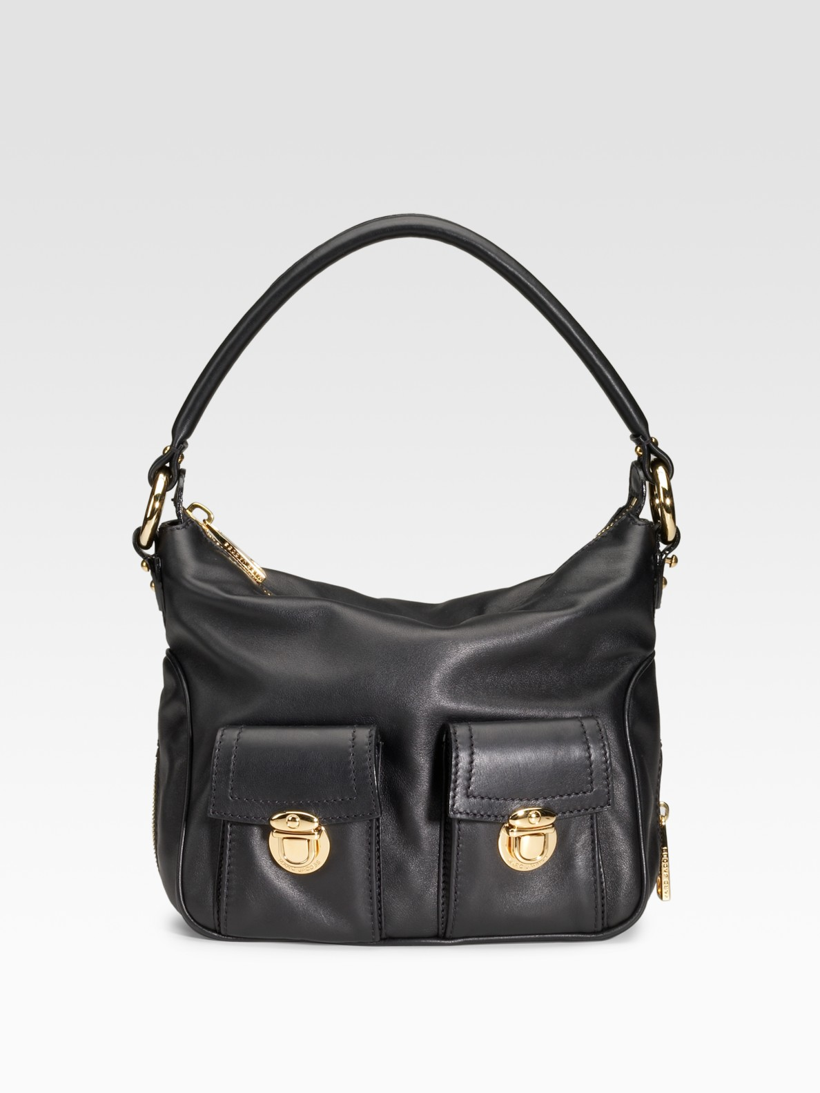 marc jacobs classic multipocket leather hobo in black lyst. Black Bedroom Furniture Sets. Home Design Ideas