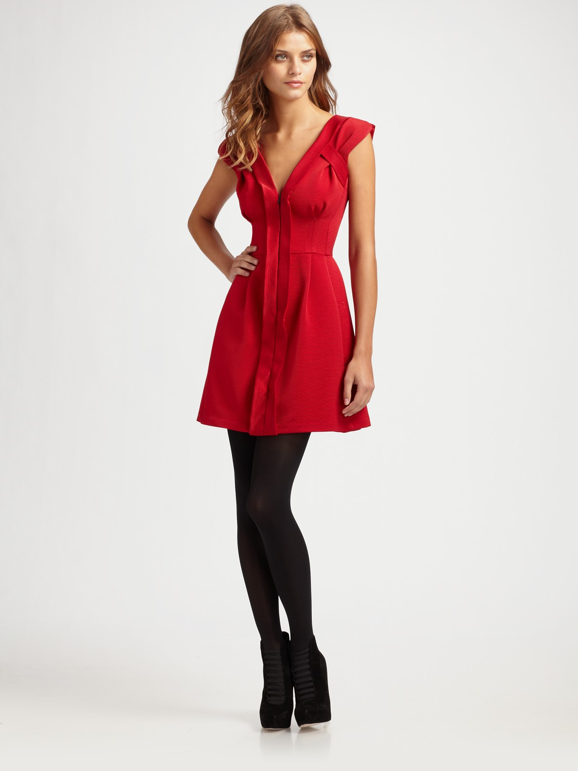 Lepore Red Dress