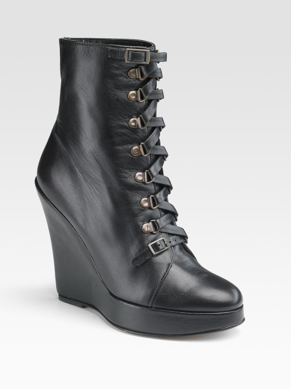 Find lace up wedge ankle boots at ShopStyle. Shop the latest collection of lace up wedge ankle boots from the most popular stores - all in one place.