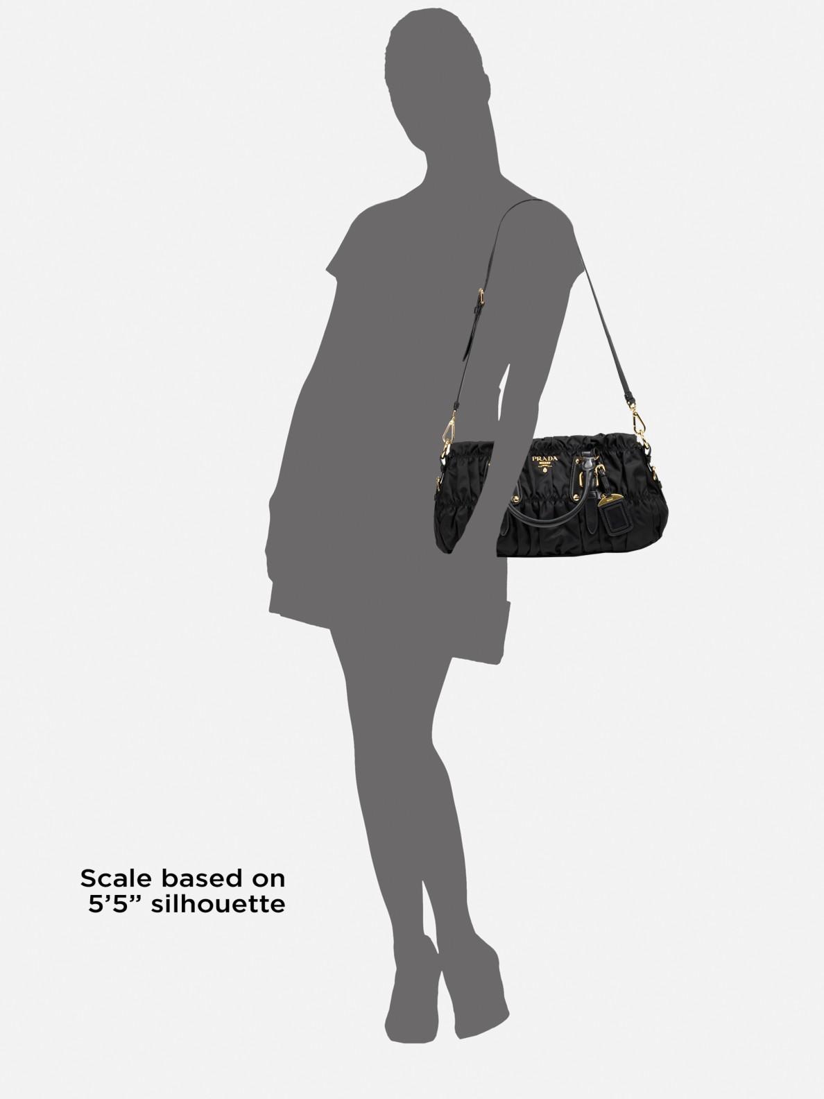 9735a795c7 Prada Tessuto Gaufre Top Handle Bag in Black