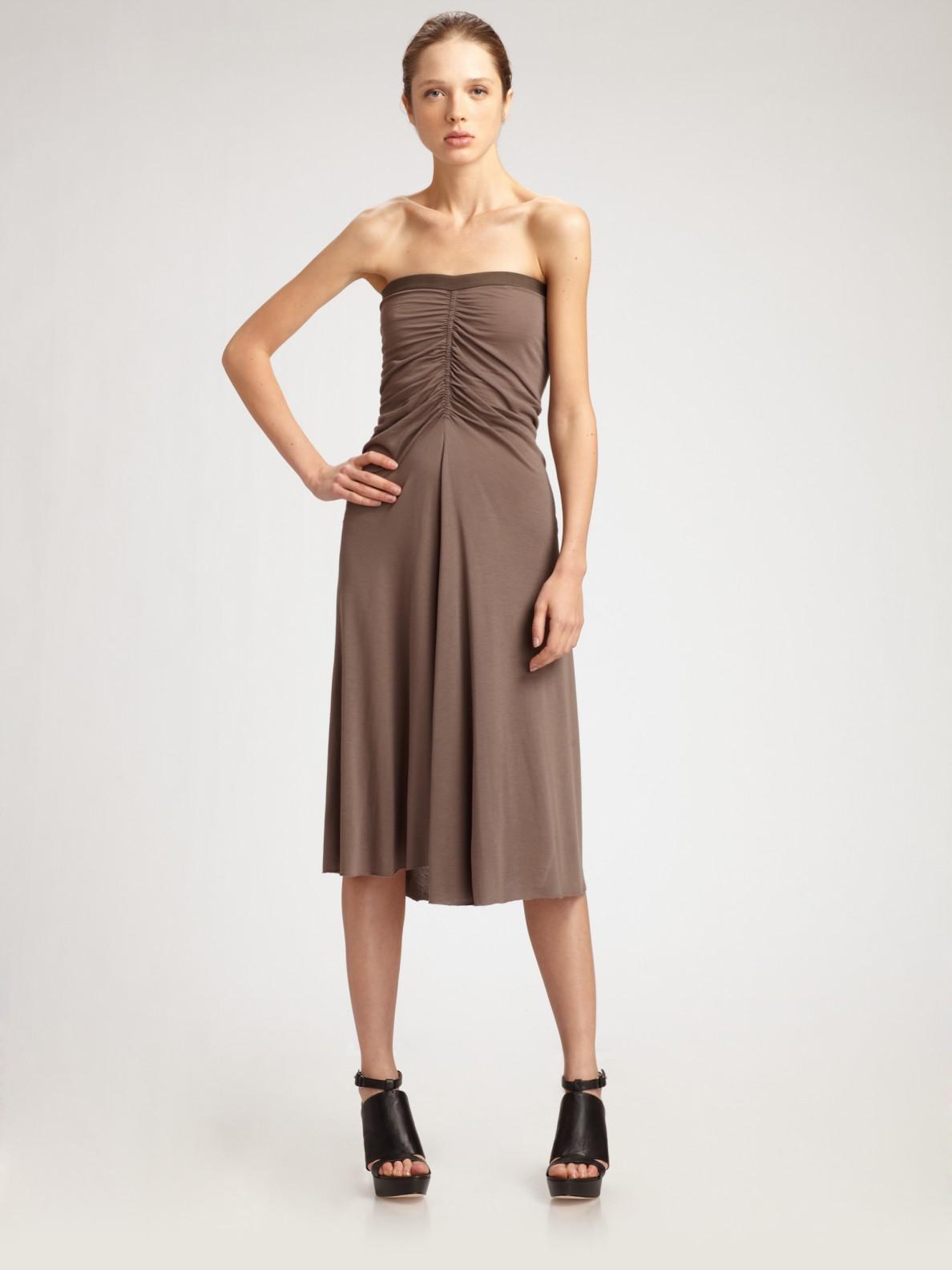 Lyst Rick Owens Lilies Convertible Strapless Dress