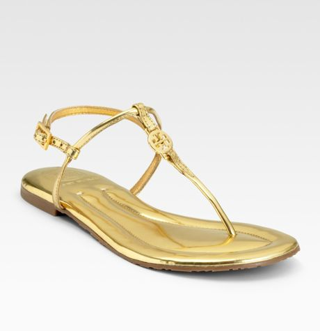9155cc369b40 Tory Burch Emmy Thong Sandals in Gold - Lyst