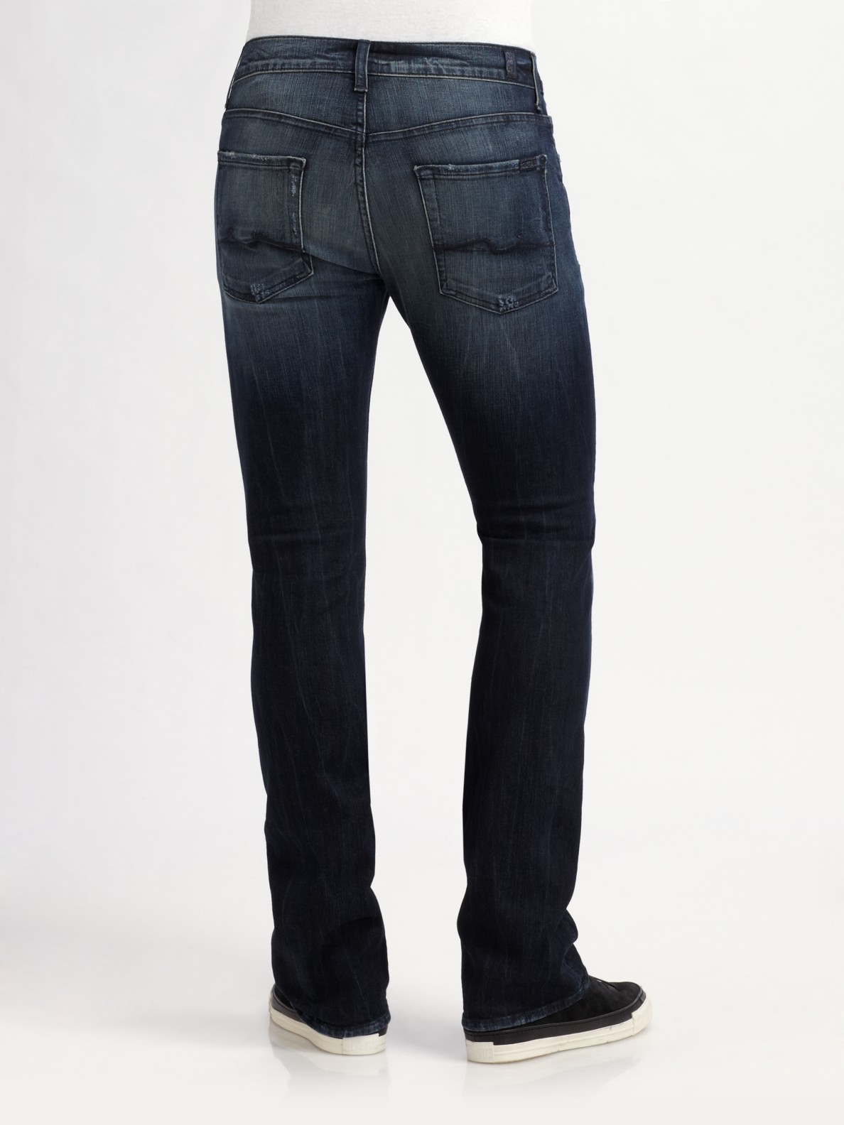7 for all mankind Nate Nightcat Slim Bootcut Jeans in Green for ...
