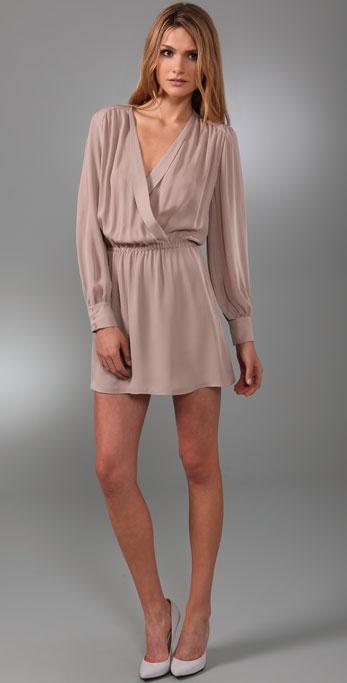 Parker Wrap Dress in Pink | Lyst