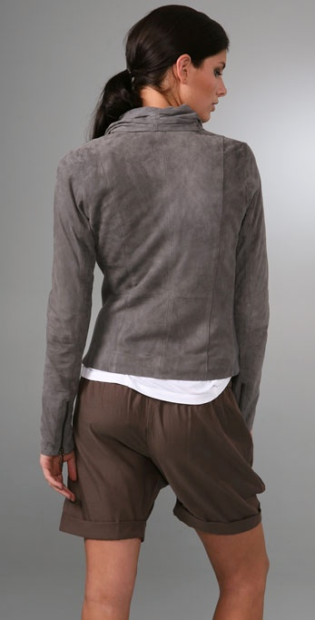 on style draped miracle jacket look go drapes the products suede essential