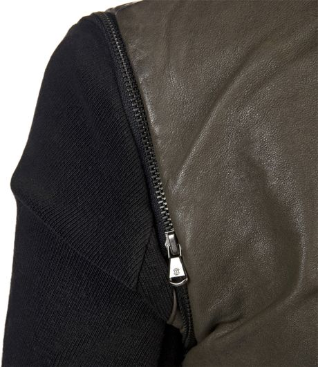 IMPROVD Convertible Leather & Knit Jacket | ThisNext