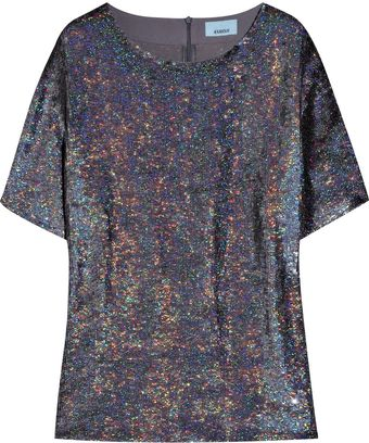Ashish Sequined Silk-georgette T-shirt - Lyst