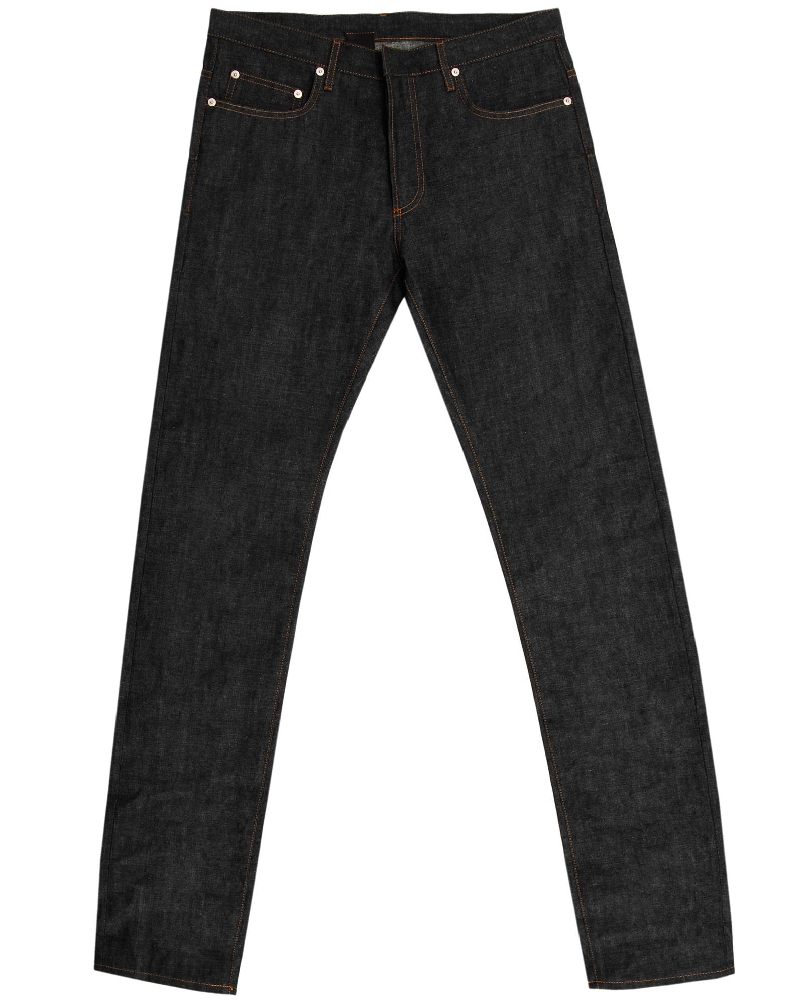 dior homme 19 inch japanese selvage jeans in blue for men. Black Bedroom Furniture Sets. Home Design Ideas