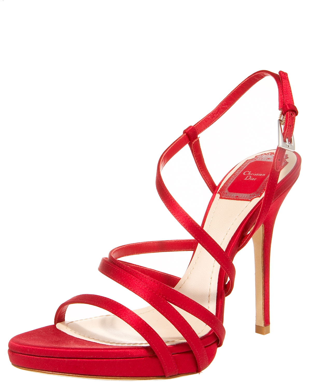 Red Strappy Heels